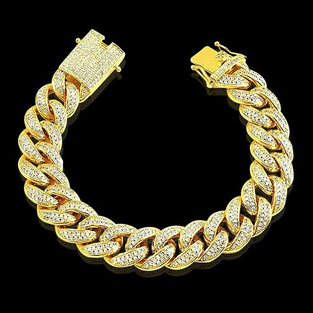 Wrist game strong with iced out bracelets for sale from Hip Hop Bling