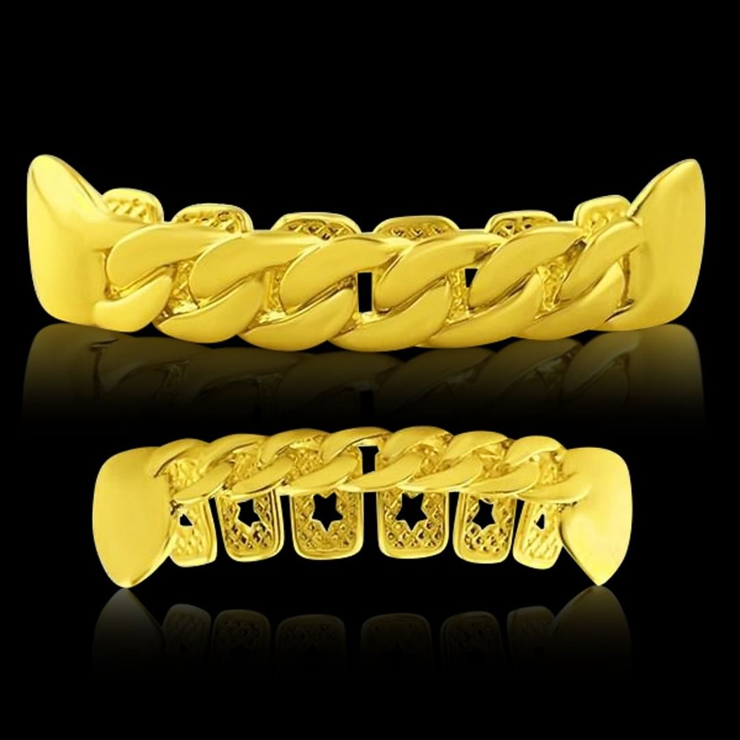 You about that Chaingame life? Cuban Chains on your grillz, from Hip Hop Bling