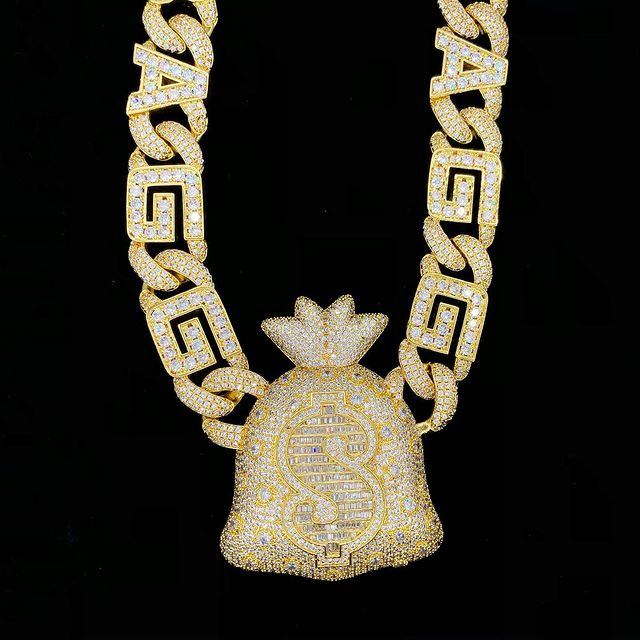 Hand made moneybag yo pendant, made exclusively from HipHopBling.com