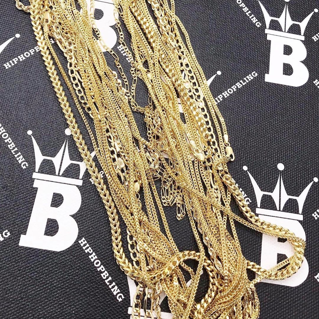 Solid gold rope chains are selling out fast, get yours today from Hip Hop Bling