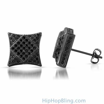 Black Bling Bling Earrings