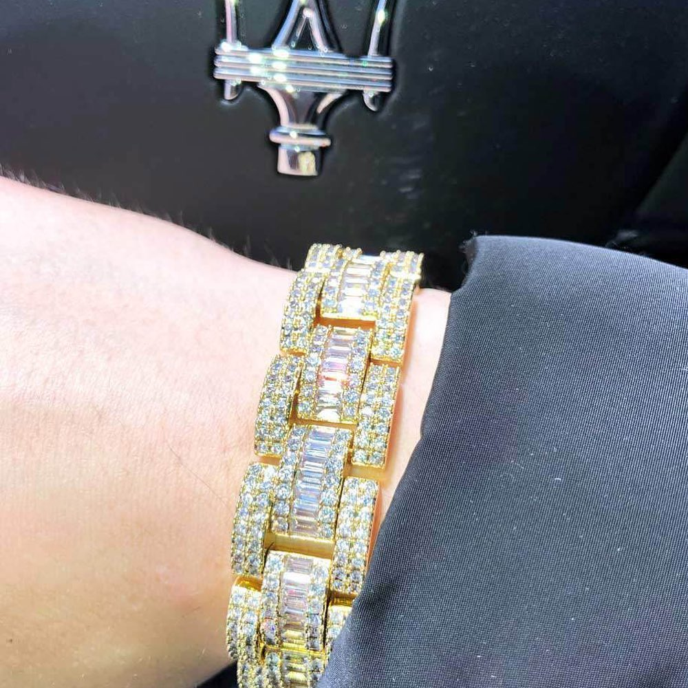 Baguettes on baguettes, beautiful bracelets all your own. Get some from HipHopBling.com
