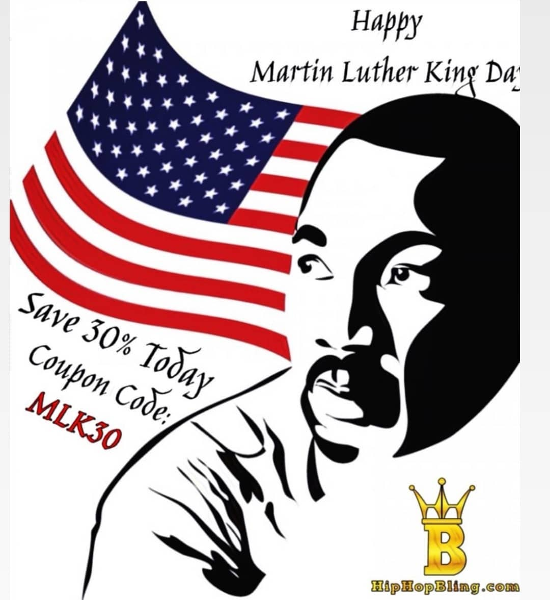 Happy MLK Day y'all, code MLK30 for 30% off at HipHopBling.com