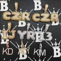 Custom letter pendants, load of customs for a value price from Hip Hop Bling