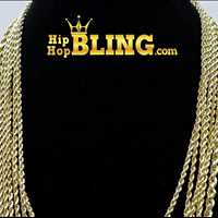Solid gold rope chains, shop the illest hip hop jewelry for sale from Hip Hop Bling