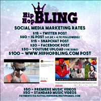 Get seen, get the right info out - DM us for more info. Hip Hop Bling TV