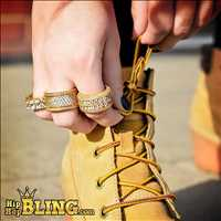 Get your high end diamond rings drenched in gold from Hip Hop Bling