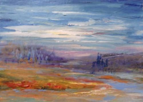 """3041 - NIGHTFALL - ACEO Series"" original fine art by Sea Dean"