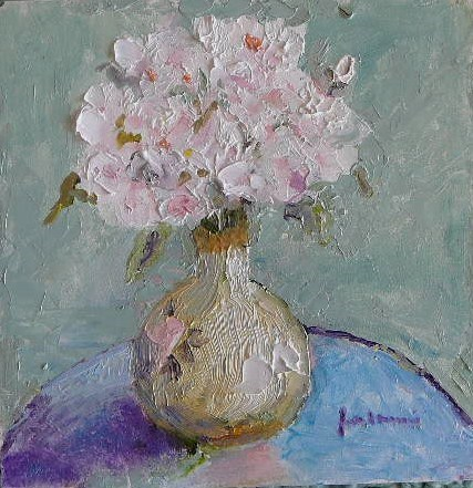 """French Roses~~~Italian Vase"" original fine art by Jane Morac'E"