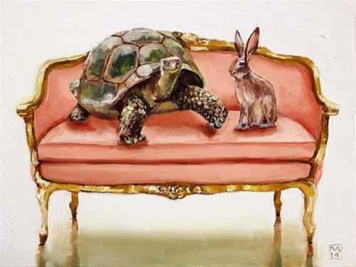 """on your mark, get set..."" original fine art by Kimberly Applegate"