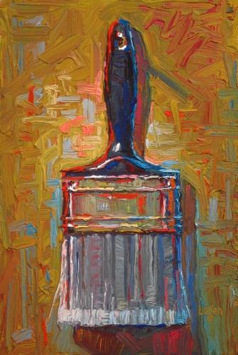 """""""Three Inch Brush"""" original fine art by Raymond Logan"""
