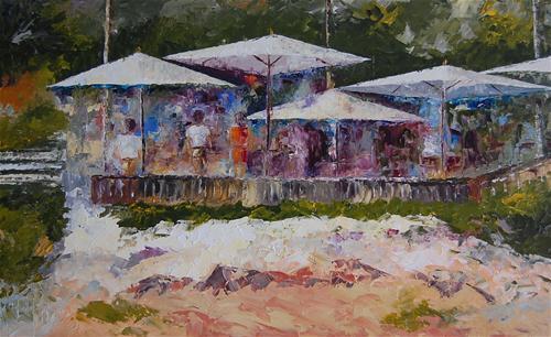 """""""Beachcomber Restaurant#2"""" original fine art by Deborah Harold"""