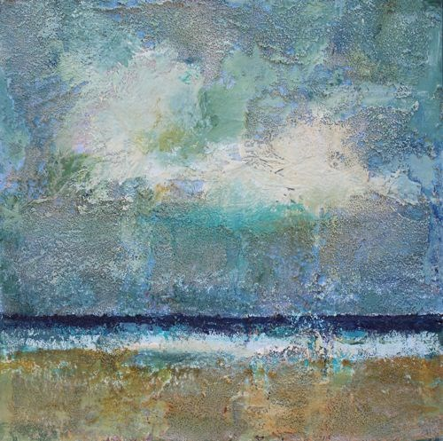 """""""Beach Time, Beach and Ocean Paintings by Arizona Artist Amy Whitehouse"""" original fine art by Amy Whitehouse"""