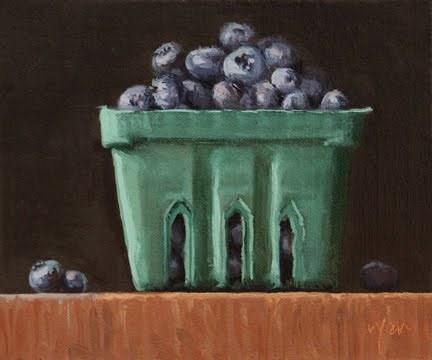 """Summer Blueberries   &   Palm Beach Art Show reminder"" original fine art by Abbey Ryan"