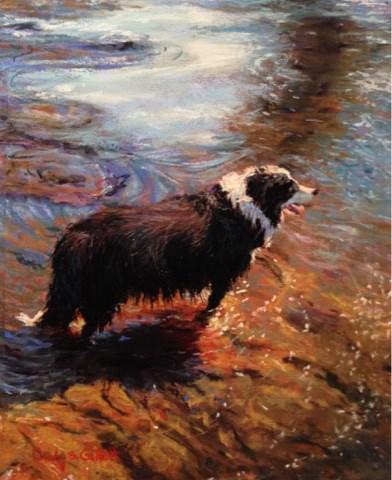 """""""Cooling Off"""" original fine art by Cindy Gillett"""