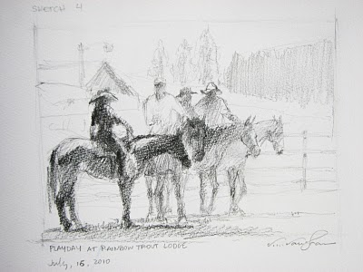 """Sketch #4__Play Day"" original fine art by V.... Vaughan"