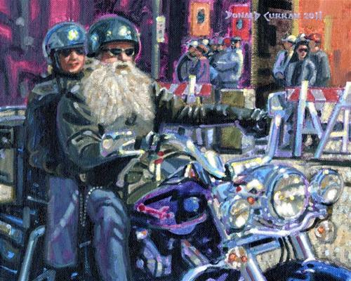 """Motorcycle Biker"" original fine art by Donald Curran"