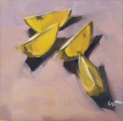 """Lemon Boats --- SOLD"" original fine art by Carol Marine"
