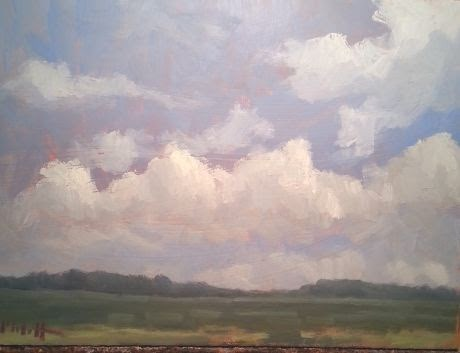 """9x12 Fair Skies Original Oil Painting"" original fine art by Heidi Malott"