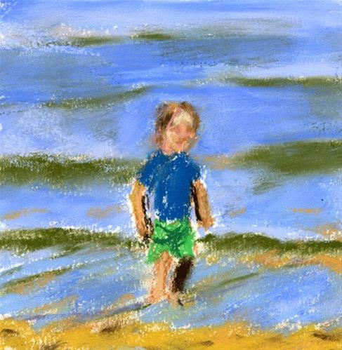 """""""Joy By The Water"""" original fine art by Donna Crosby"""