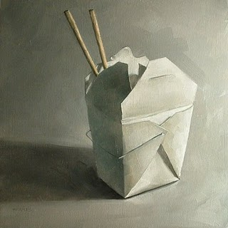 """""""Chinese Take Out"""" original fine art by Michael Naples"""