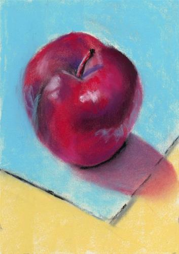 """Apple Study pastel painting"" original fine art by Ria Hills"
