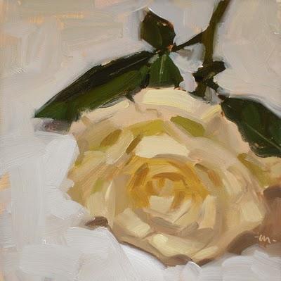"""""""Lie to Me, Rose"""" original fine art by Carol Marine"""