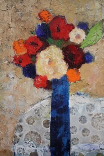 """Flowers and Lace, Contemporary Floral Paintings by Arizona Artist Amy Whitehouse"" original fine art by Amy Whitehouse"
