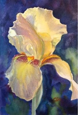 """Day 11 - Yellow Iris"" original fine art by Lyn Gill"