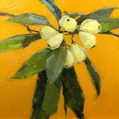 """Low-hanging fruit"" original fine art by Laurel Daniel"