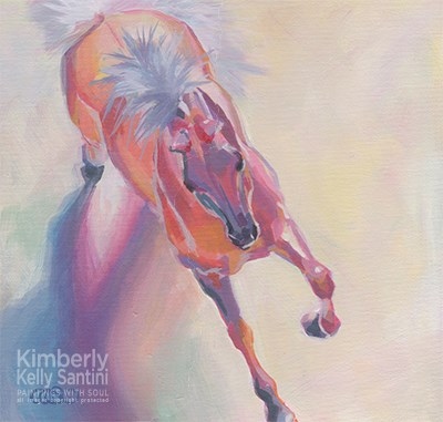 """Hot to Trot"" original fine art by Kimberly Santini"