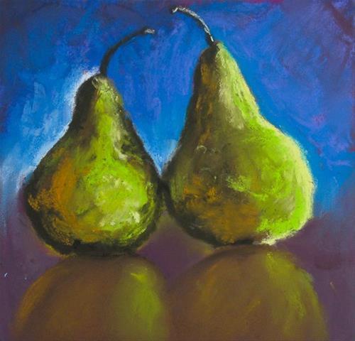 """""""Pears from class"""" original fine art by A.E.E. Miller"""
