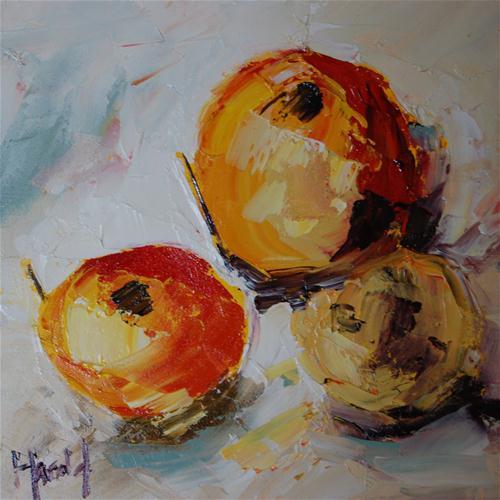 """Eat A Peach"" original fine art by Deborah Harold"