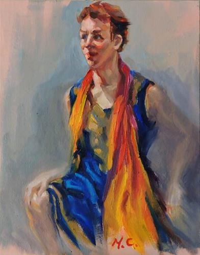 """Colourful Dress"" original fine art by Michelle chen"