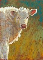 """""""4 New Little Cows"""" original fine art by Rita Kirkman"""