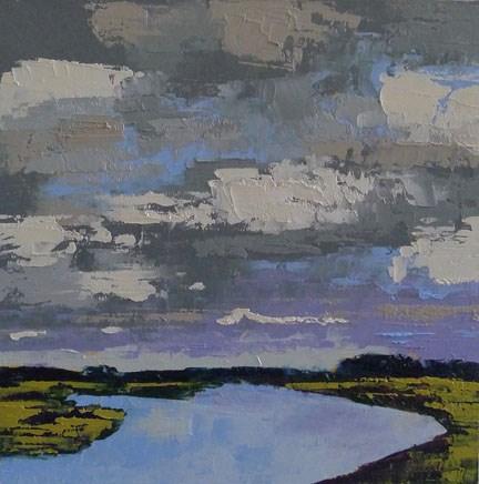 """CLOUDY DAY"" original fine art by Linda Popple"
