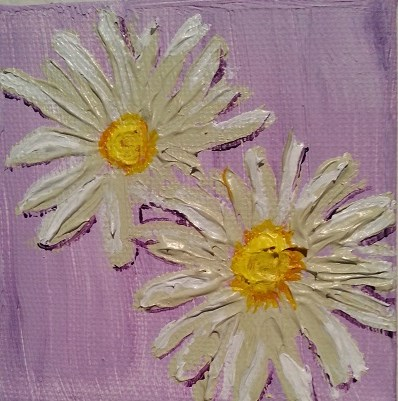 """White Daisies"" original fine art by Jo Allebach"