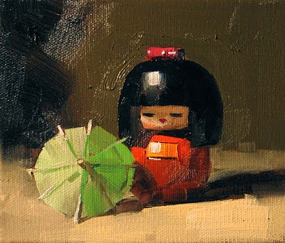 """""""Japanese Doll --- Sold"""" original fine art by Qiang Huang"""