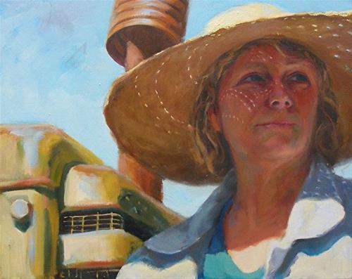 """Aunt Mabry"" original fine art by Wendy Brayton"
