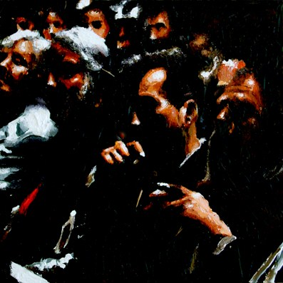 """""""Inside The Theater- People Enjoying A Performance In Theater"""" original fine art by Gerard Boersma"""