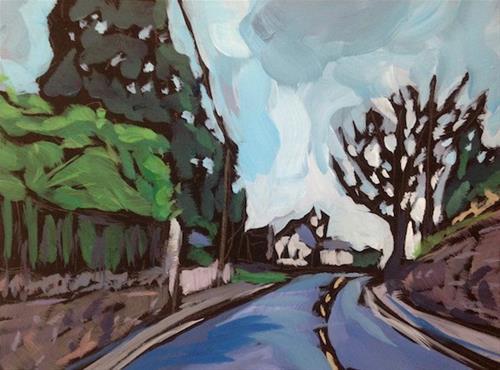 """Irish Road"" original fine art by Kat Corrigan"