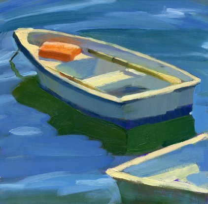 """Orange Float"" original fine art by Kathy Weber"
