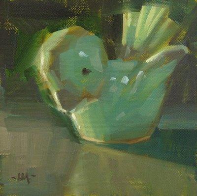 """""""Little Bird"""" original fine art by Carol Marine"""