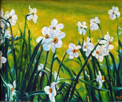 """""""Daffodil"""" original fine art by Michelle chen"""