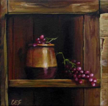 """In The Old Cupboard"" original fine art by ~ces~ Christine E. S. Code"