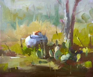 """""""Texas Country --- Sold"""" original fine art by Qiang Huang"""