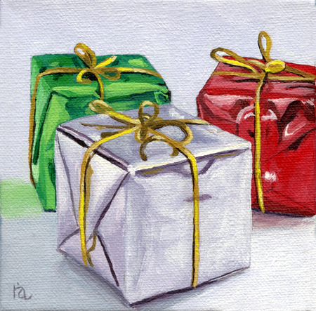 """Wrapped"" original fine art by Ria Hills"
