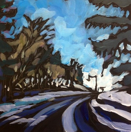 """Up The Road From Theo WIrth"" original fine art by Kat Corrigan"