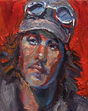 """Aaron"" original fine art by Raymond Logan"