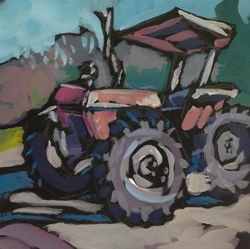 """""""The Tractor"""" original fine art by Kat Corrigan"""